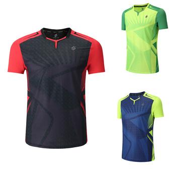 Nowa koszulka do badmintona sportowa koszulka do gry w tenisa kobiety mężczyźni koszulka do gry w tenisa sportowego s odzież tenisowa koszulka do ćwiczeń Qucik 3899AB tanie i dobre opinie NoEnName_Null Poliester Krótki Koszule Suknem Pasuje prawda na wymiar weź swój normalny rozmiar Anty-pilling Oddychająca