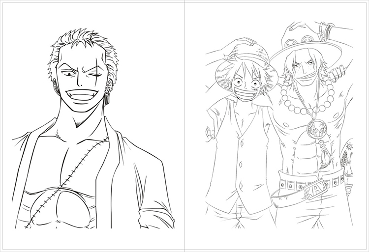 192 Page Anime One Piece Antistress Colouring Book for Adults Children Relieve Stress Painting Drawing Coloring Book Gifts 1