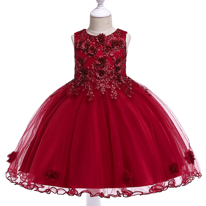 2020 Flower Girls Dresses For Party And Wedding Clothes Dress Children's' Clothing Gown Birthday Princess Tutu Dress 3-10 Years