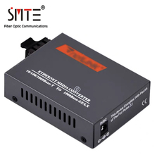 Netlink-Media-Converter Gigabit Double-Fiber RJ45 Multimode HTB-GM-03 Power-Supply SC