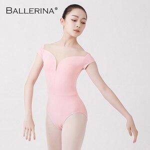 Image 5 - バレエ練習レオタード女性のためのaerialistダンス衣装半袖体操レオタードadultoバレリーナ5729