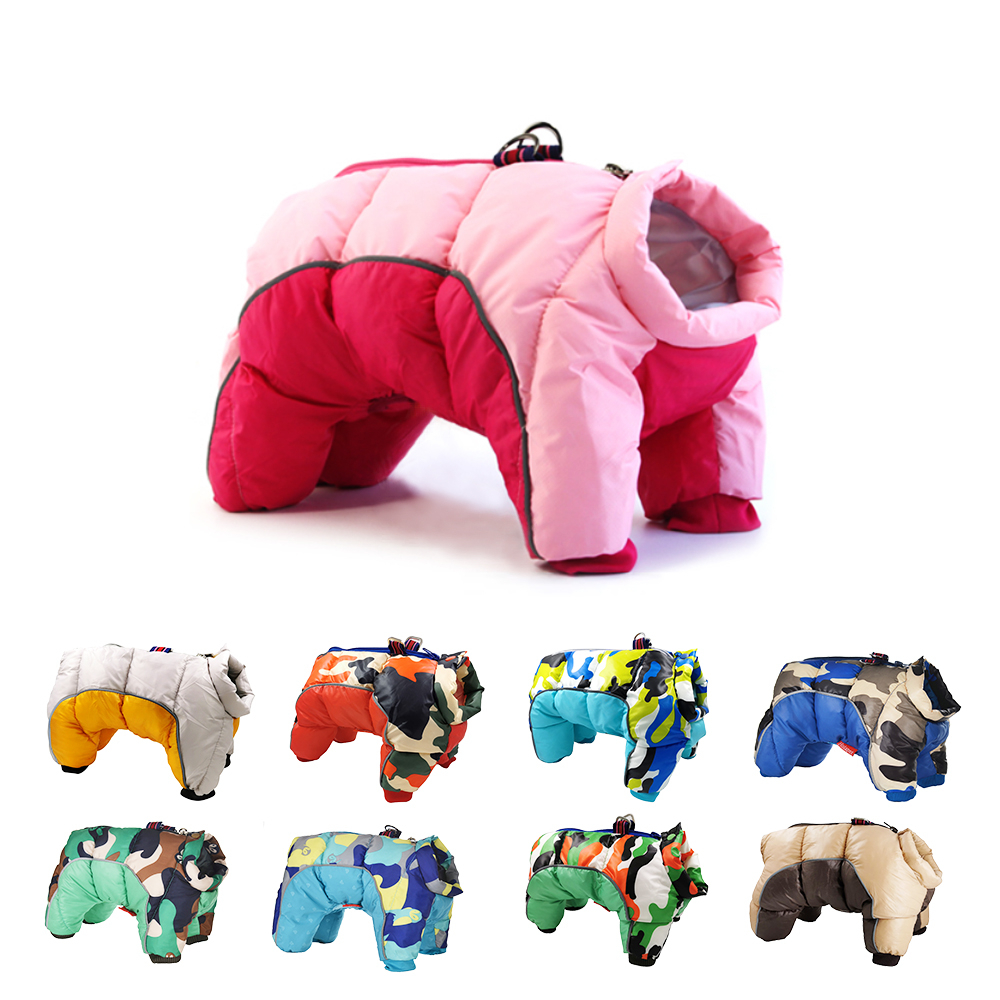 Winter <font><b>Pet</b></font> <font><b>Dog</b></font> Clothes Super Warm Jacket Thicker Cotton Coat Waterproof Small <font><b>Dogs</b></font> <font><b>Pets</b></font> <font><b>Clothing</b></font> For French Bulldog Puppy image