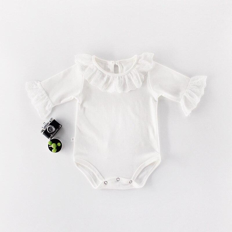 Bebê menina bodysuits de manga longa recém-nascidos bebes macacão corpo terno superior outono inverno da criança infantil algodão macacões pijamas roupas