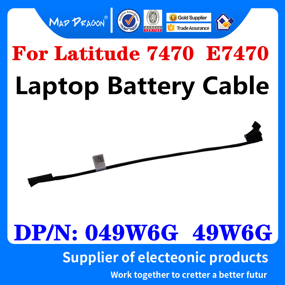 Новый оригинальный аккумулятор 049W6G 49W6G DC020029500 для ноутбуков Dell Latitude 7470 E7470 AAZ60, кабель-соединитель, Провод Аккумулятора