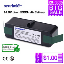 5.3 Ah 14.8V Li-ion Battery for iRobot Roomba 500 600 700 800 Series 510 530 550 560 580 620 630 650 760 770 780 790 870 880 R3