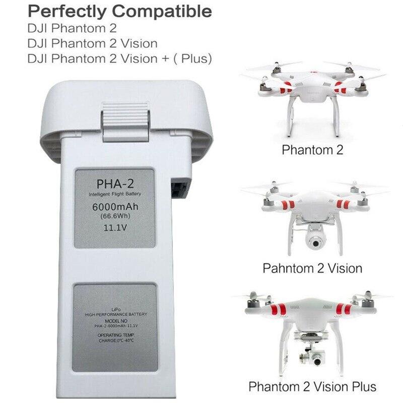 11,1 В 6000 мАч литий полимерный Дрон, аккумулятор с батарейными лампами, совместим с Phantom 2, Phantom 2 Vision, Phantom 2 Vision +|Перезаряжаемые батареи|   | АлиЭкспресс