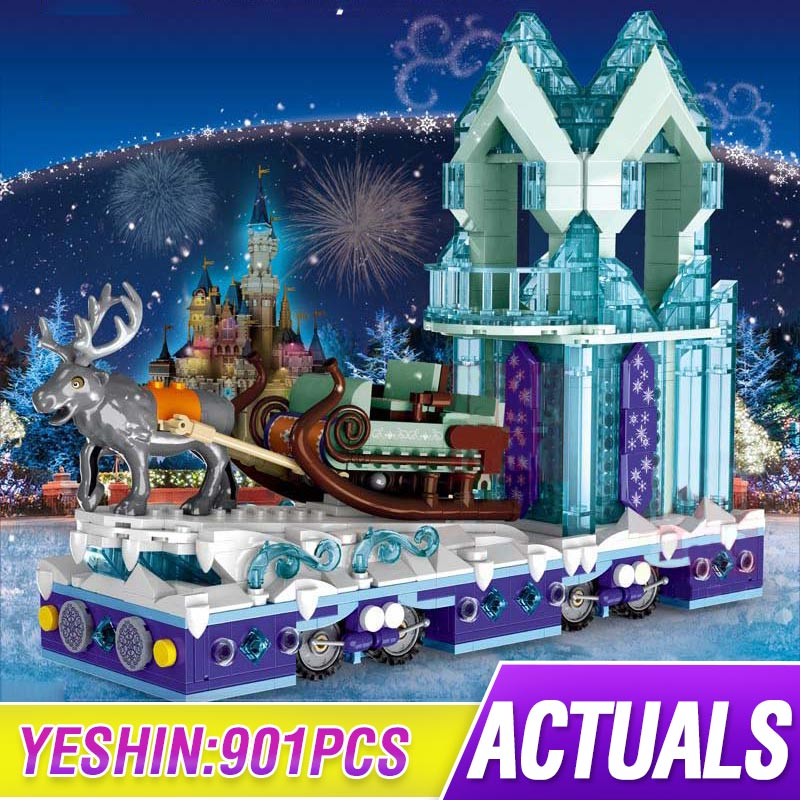 Snow World Series Girls City Friends Princess Fantasy Winter Village Sleigh Building Blocks Brick Compatible Lepining 41166 Toys