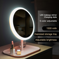 Mirror Makeup Mirror with LED Lights Female Portable LED Mirror Live Fill LED Mirror Charging Table Makeup Light Small mirrors