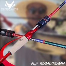 Spinning Rod Fuji High Carbon universal Perch Bass rod ultralight Hard long shot Lure Rod ML M MH 1.98m2.1m2.4m2.5m Casting Rod