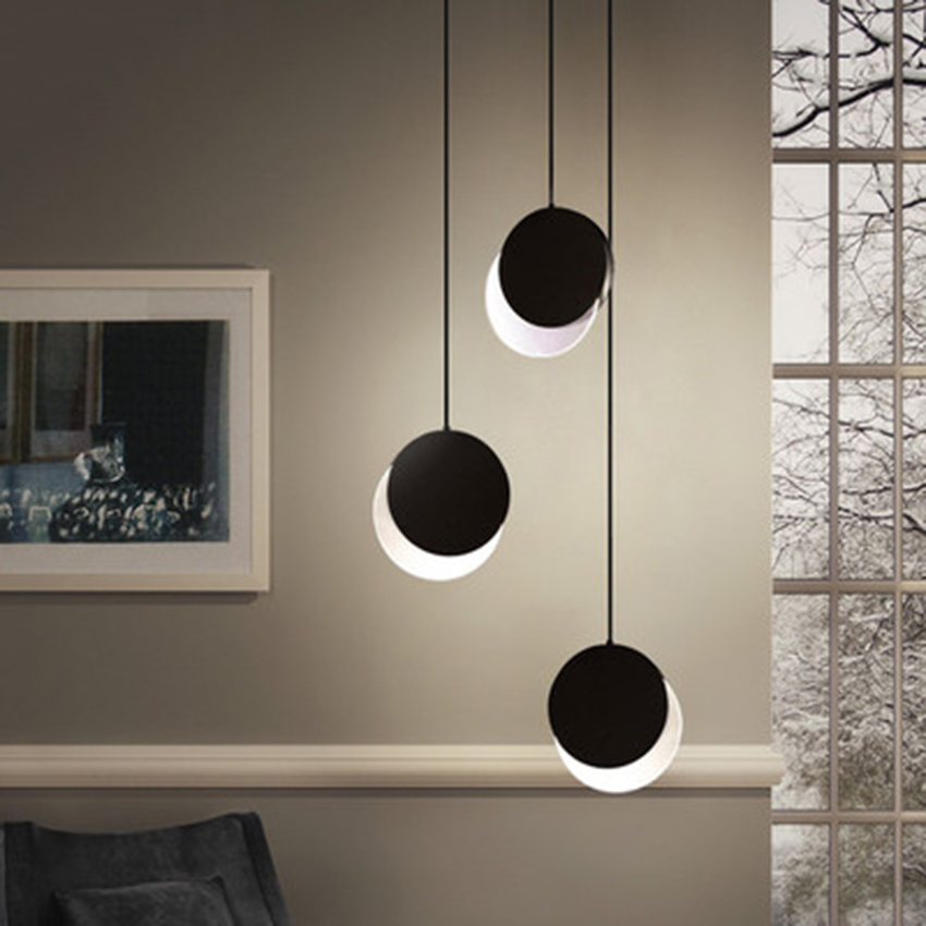 Postmodern LED Pendant Light Eclipse Pendant Lamp Lighting Nordic Cafe Loft Aisle Living Room Lamp Bedroom Decor Light Fixtures