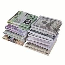 Euro Wallet Money-Clip Paper Mini Purse 2-Fold Women Thin Slim Novel Coin-Bag Dollar