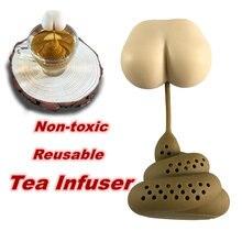 Забавные чай Фильтр нетоксичный инновационные Форма силиконовые