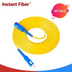 10 pces sc upc para sc upc simples 2.0mm 3.0mm pvc único modo cabo de remendo de fibra cabo de remendo de fibra em ponte