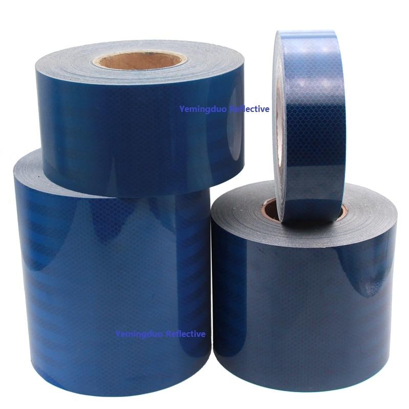 5 / 10 /15 / 20CM Width PET Super Reflective Car Decoratiive Sticker Blue Self-adhesive Tape Road Traffic Warning Sign