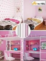 Dormitory Wallpaper Self adhesive College Girl Warm Wallpaper Pink Girl Heart Fresh Wall Sticker Bedroom Decoration Sticker