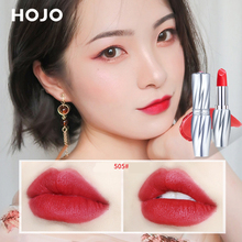 1PC HOJO silky lipstick 6 color sexy red orange vampire lipstick waterproof long lasting noble moisturizing lip stick pen BN127