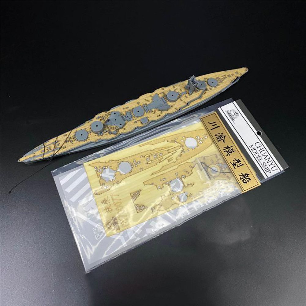 <font><b>1</b></font>/<font><b>700</b></font> <font><b>Scale</b></font> Wooden Deck with Anchor Chain for FUJIMI 431154 IJN Fuso Battleship <font><b>Model</b></font> <font><b>Ship</b></font> DIY Assembled Kits image