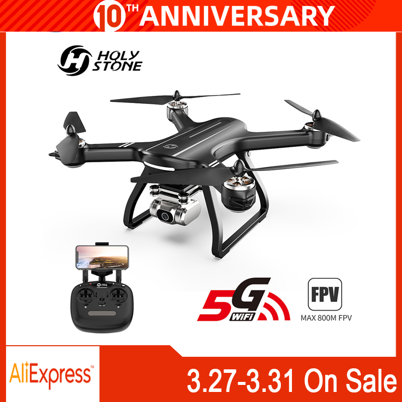 HolyStone HS700D Drone GPS Brushless 5G 800M WIFI FPV 2K Camera Full HD GPS RC Drone 1km 1000M 22 Mins Profesional  Quadcopter