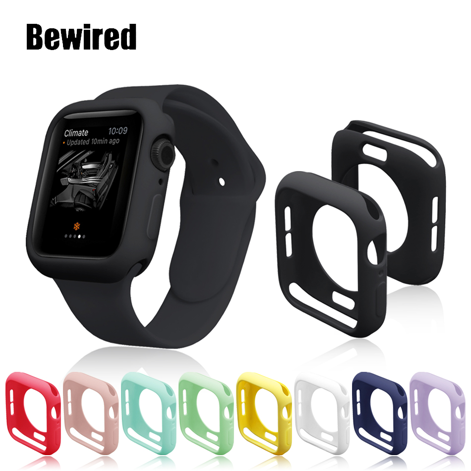 Candy Color Soft TPU Case For Apple Watch 5/4/3/2/1 38MM 40MM Protective Case  For Iwatch Series 4 3 2 1 42MM 44MM Band Case