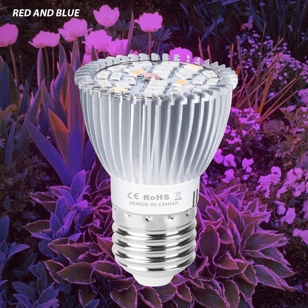 E14 Full Spectrum LED Growing Plants Indoor Grow Light LED Hydroponics Light 18W 28W E27 LED Bulbs Seedling Flower Phyto Lamp