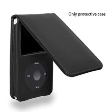 Folding Durable Holder With Clip PU Leather Sleeve MP3 Player Protective Case Dustproof Travel Solid Detachable For IPod Classic(China)
