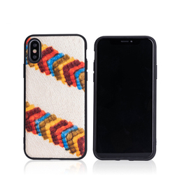 Luxury leather phone case with all-inclusive painted phone case for iPhone 7 8 Plus XR XS MAX 11 Pro MAX FHX-18R Back cove case