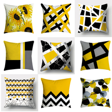 2019 New Pillowcases Pineapple Leaf Yellow Throw Pillow Case Sofa Car Waist Throw Cushion Cover Home Decor Pillow Cover Cojine цены