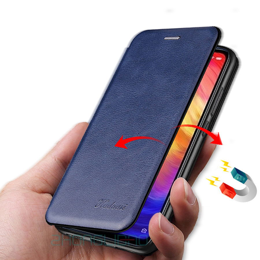Leather Flip Case Shell for Xiaomi Mi9t Mi 9t A2 Lite Redmi K20 7A 6 Pro Note 8 8t T 7 6 5 Pro Global Magnet Wallet Phone Cover image
