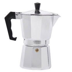 Moka cafeteira espresso fabricante de fogão de alumínio durável para cozinha de escritório em casa aug889 (livre pequeno presente)