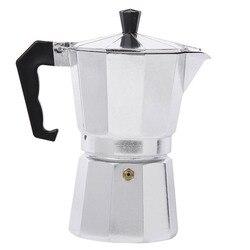 Moka cezvesi Espresso makinesi alüminyum Stovetop için dayanıklı ev ofis mutfak AUG889 (ücretsiz küçük hediye)