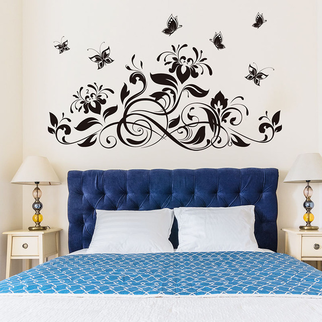 3D Butterfly beautiful Flower Wall Sticker Wall Decals For Kids Room Bedroom Living Room home decor for Sofa TV 2