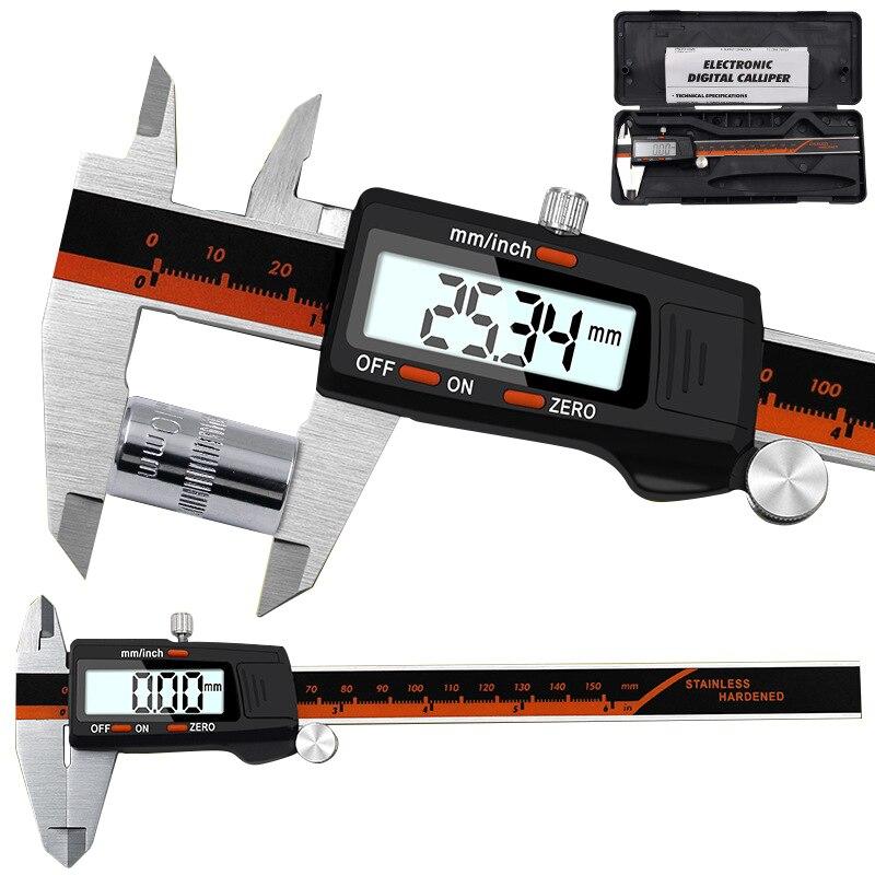 Precision 150mm Vernier Digital Caliper Ruler Micrometer Electronic LCD Calibre