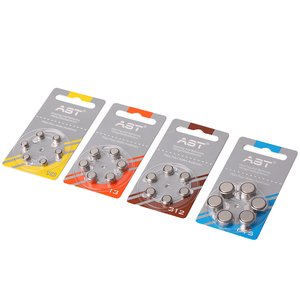 Image 3 - 60pcs AST Hearing Aid Batteries A 312 A ZA312 PR41 S312 312 Zinc Air battery for hearing aids