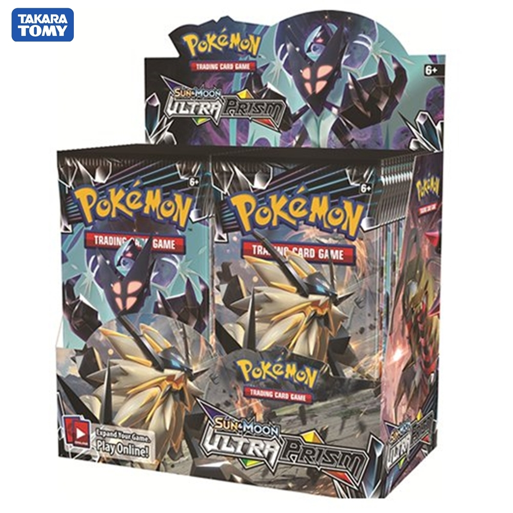 324pcs/box Pokemon Cards TCG: Sun & Moon Series Booster Box Collectible Trading Card Game Kids Toys