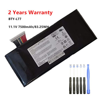 11.1V 7500mAh Laptop Battery For MSI GT72-2QE GT72-2QD GT72S 6QF GT72VR-6RD MS-1783 MS-1781 BTY-L77 Notebook Battery цена 2017