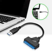 ATA 3 кабель Sata к USB адаптер 6 Гбит/с для 2,5 дюймов внешний SSD HDD жесткий диск 22 Pin Sata III кабель