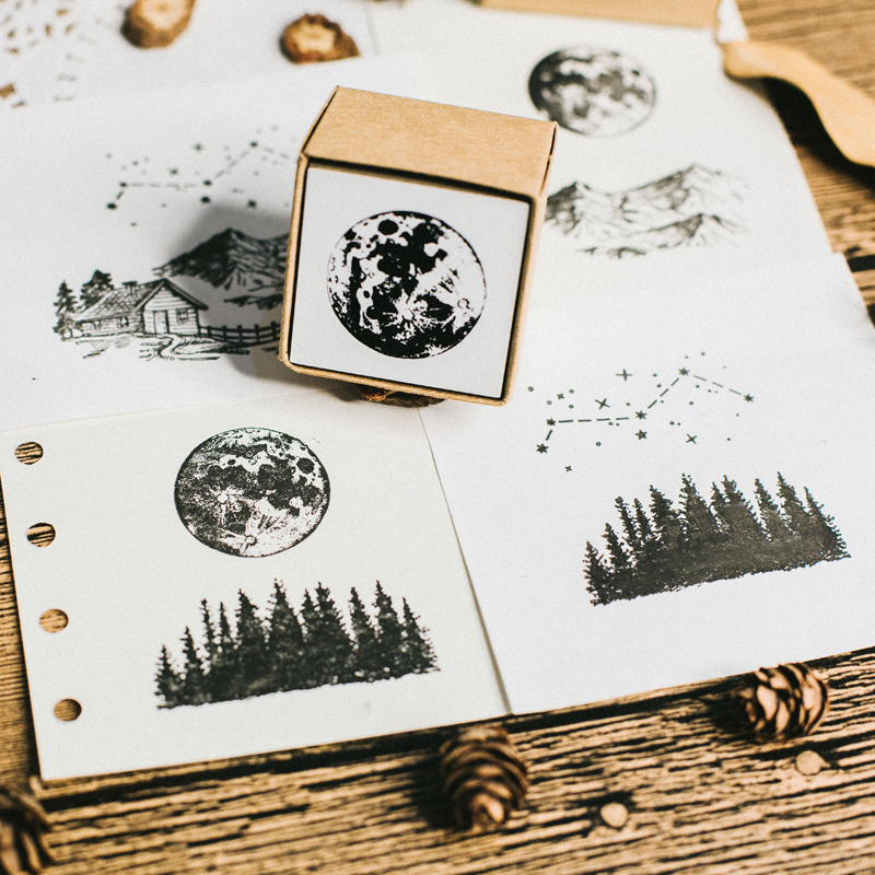 Image 3 - Vintage jungle series stamp DIY wooden rubber stamps for scrapbooking stationery scrapbooking standard stamp-in Stamps from Home & Garden