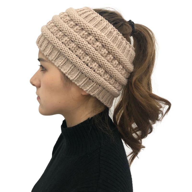 Winter Knitted Headband Women Crochet Braided Hair Band Ear Warmer Head Wrap Turban For Halloween Festival Decor Gift