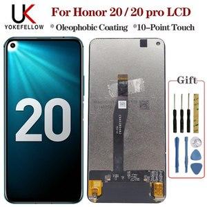 Image 1 - Оригинальный ЖК дисплей для Huawei Honor 20/ Honor 20 Pro, сенсорный дигитайзер в сборе, ЖК дисплей для Honor 20 / 20 Pro