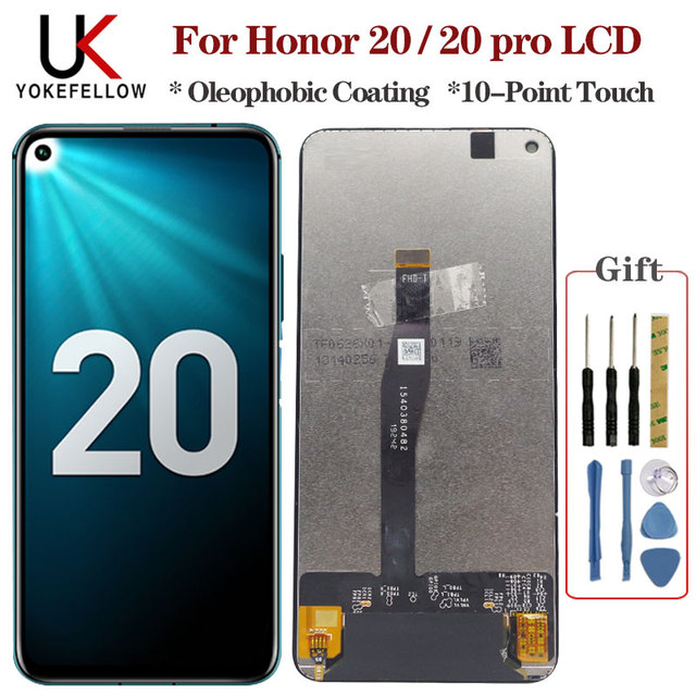 Original for Huawei Honor 20/ Honor 20 Pro LCD Display Screen Touch Digitizer Assembly LCD Display for Honor 20 / 20 Pro LCD