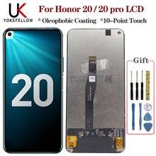 Oryginalny dla Huawei Honor 20/ Honor 20 Pro wyświetlacz LCD ekran dotykowy Digitizer zgromadzenie wyświetlacz LCD dla Honor 20/20 Pro LCD