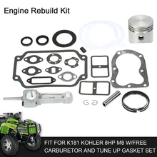 Car Engine Rebuild Kit Fit for K181 Kohler 8HP M8 w/Free Carburetor and Tune Up Gasket Set