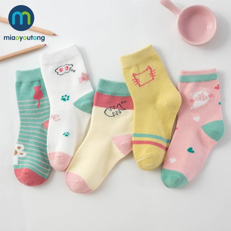 5 Pair Jacquard Cat Unicorn Rabbit Comfort Warm Cotton High Quality Kids Girl Baby Socks Child Boy Newborn Socks Miaoyoutong 2