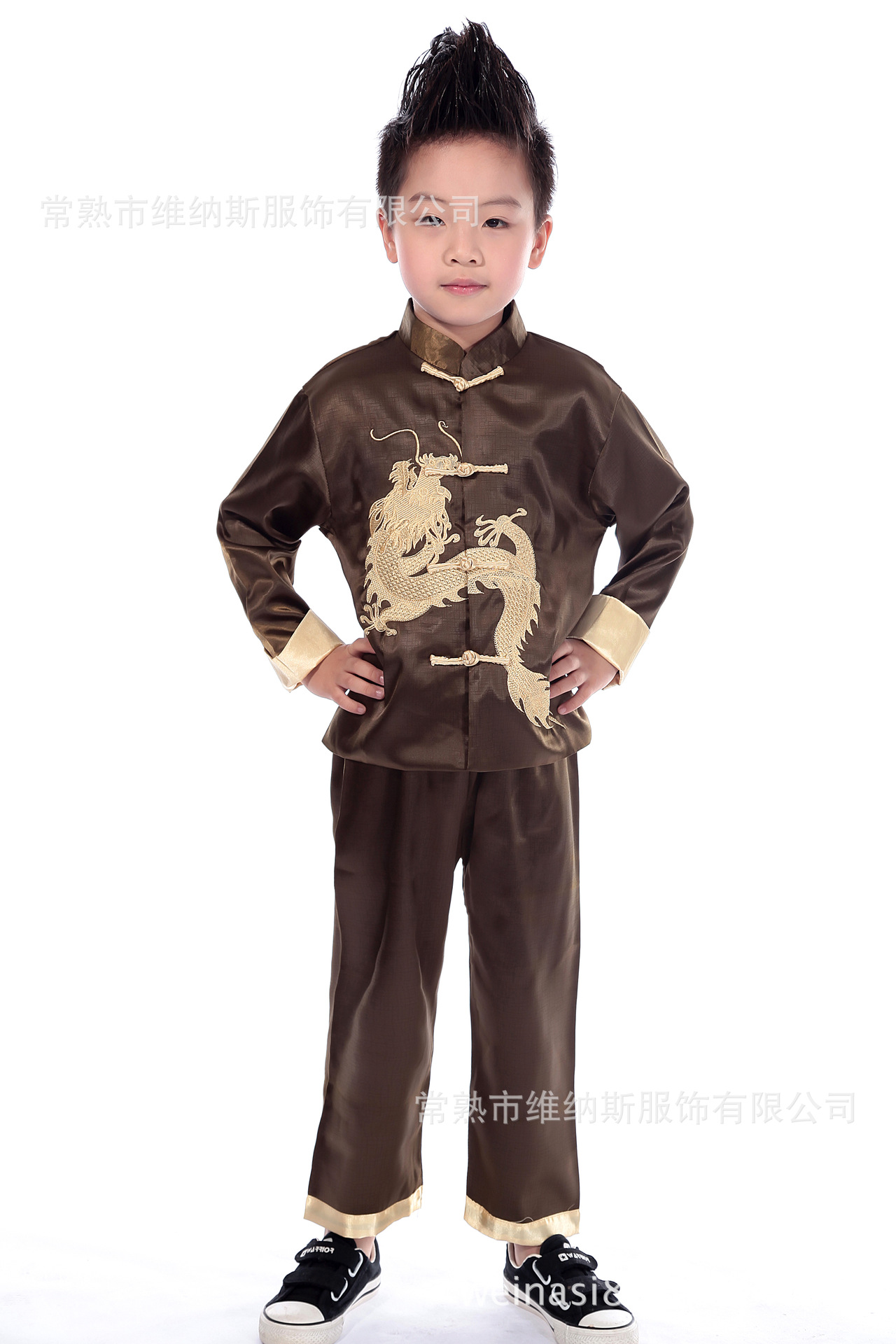 Children Chinese Costume Spring And Autumn 0780-3 Traditional Chinese Garments For Boys Tops New Year Service Chinese Style Form