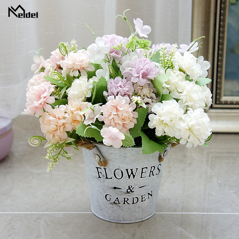 Meldel Wedding Flower Fake Lucky Ball Artificial Silk Flower Small Faux Lucky Ball Flowers Craft Party Decor Wedding Flores