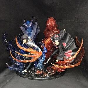 22 см Naruto Shippuden Uchiha Itachi Uchiha Sasuke фигурка ПВХ Коллекционная модель игрушки для подарка на Рождество