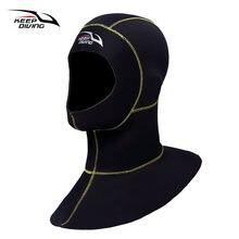 Неопреновый капюшон 3 мм для подводного плавания с плечевым