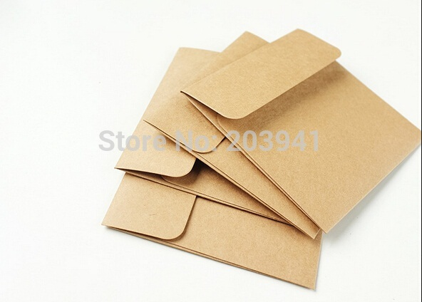 5pcs/lot Lovely Vintage Kraft Paper Square Love CD Optical Disc Envelope Bag DIY Card Bag  Package Bag