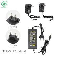 AC110-240V DC12V 1A 2A 5A 12W 24W 60W US ue prise adaptateur chargeur pour lumière LED transformateur de lampe
