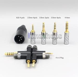 Image 2 - LN006559 2.5mm 4.4mm XLR 8 코어 실버 도금 OCC 이어폰 케이블 미스터 스피커 에테르 알파 개 프라임